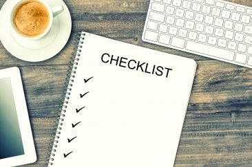 checklist with check marks