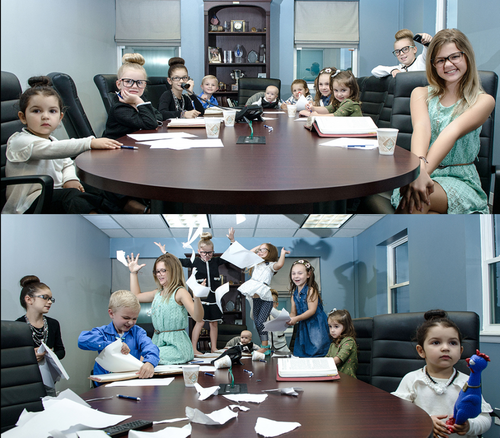 Kids in Conference Room