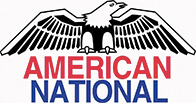 American National Logo Featuring a Bald Eagle