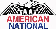 American National Logo Featuring a Bald Eagle
