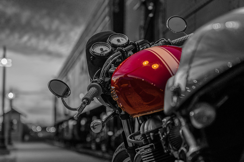 front end of a motorcycle